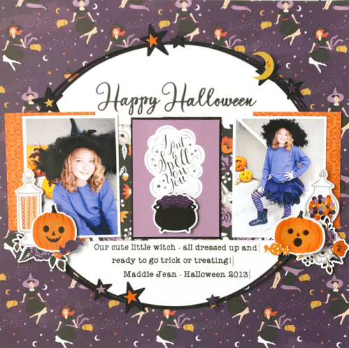 Bewitched Halloween Layout