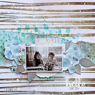 Mixed Media Sister Layout