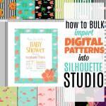 Bulk Upload Patterns into Silhouette