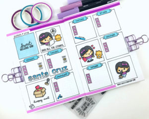 Comic Book Style Planner Pages
