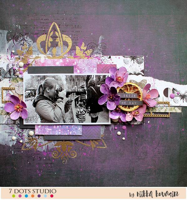 Seize the Day Mixed Media Layout
