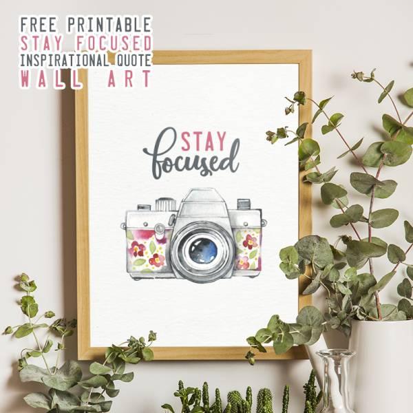 Stay Focused Camera Wall Art