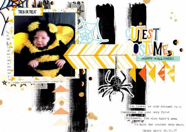 Bee Costume Halloween Layout
