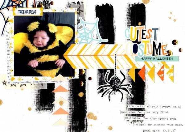 Bee Costume Halloween Layout