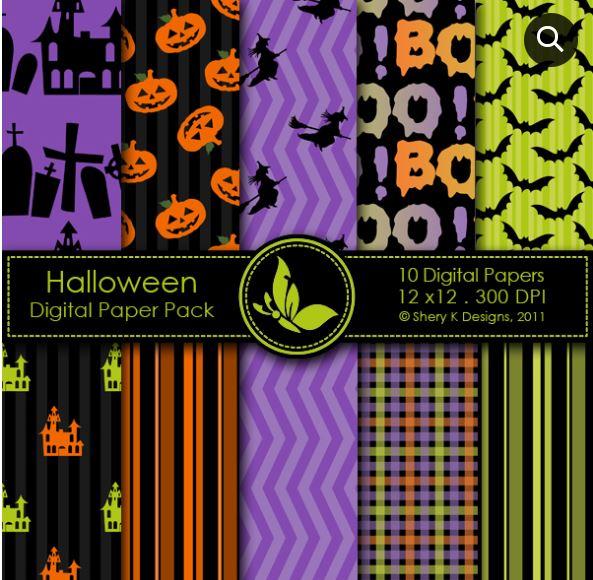 Halloween Digital Papers Download