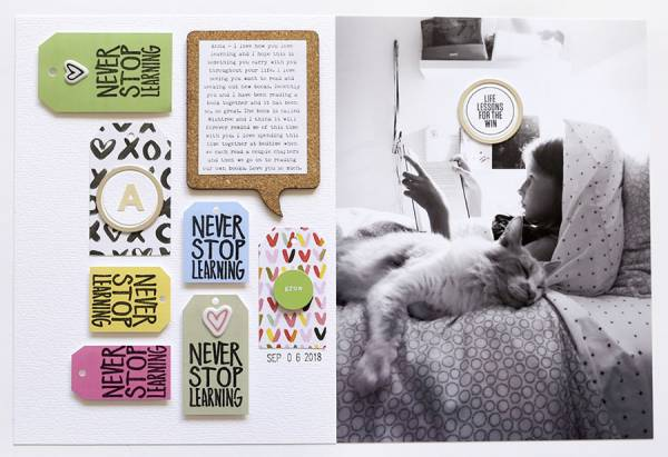 Stamped Tags Layout