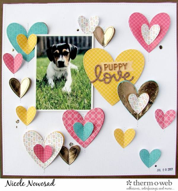 Deco Foil Puppy Love Page