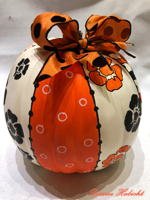 DIY Stenciled Pumpkins