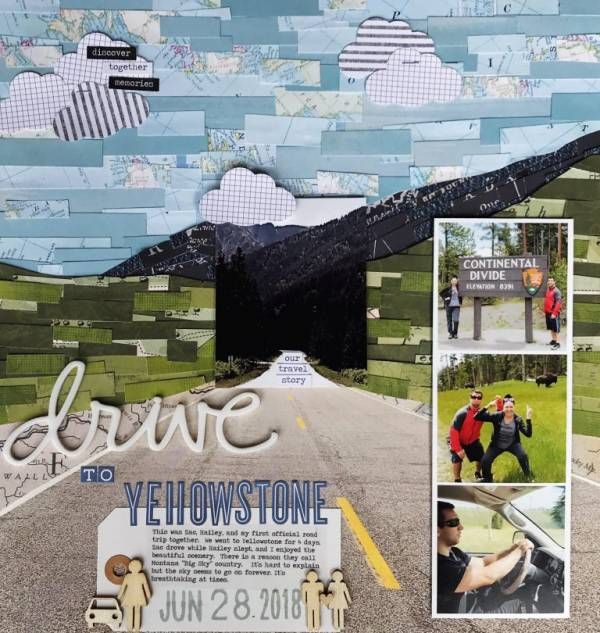 Collage Background Scrapbook Layouts