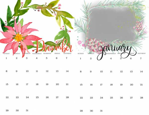 Easy Calendar Pages