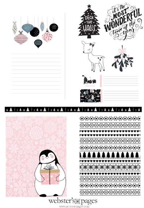December Planner Cards Download