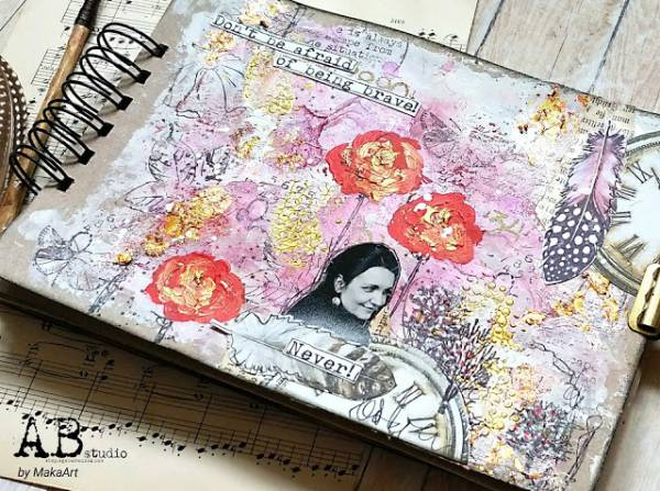 Be Brave Mixed Media Journal Page