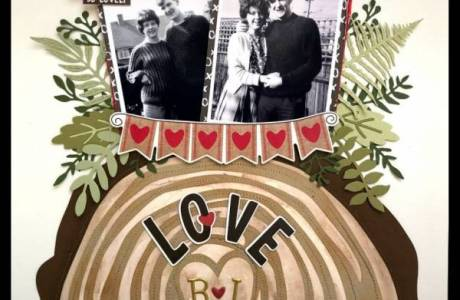 Rustic Love Log Page
