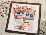 Valentine's Day Scrapbook Page