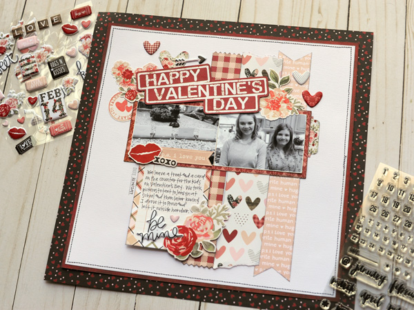 Valentine's Day Scrapbook Page