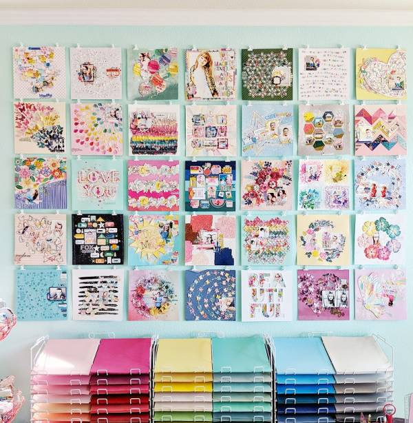 Pretty Craft Room Storage Ideas