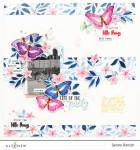 Floral and Butterflies Page