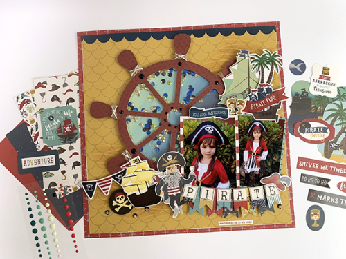 Pirate Scrapbook Page