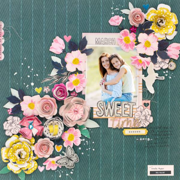 Spring Floral Layout