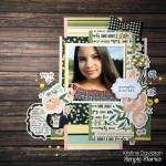 Rustic Floral and Wood Scrapbook Page