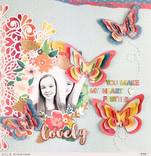 3D Butterfly Page