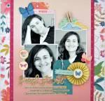 Scrapbook Layout with 3 Photos