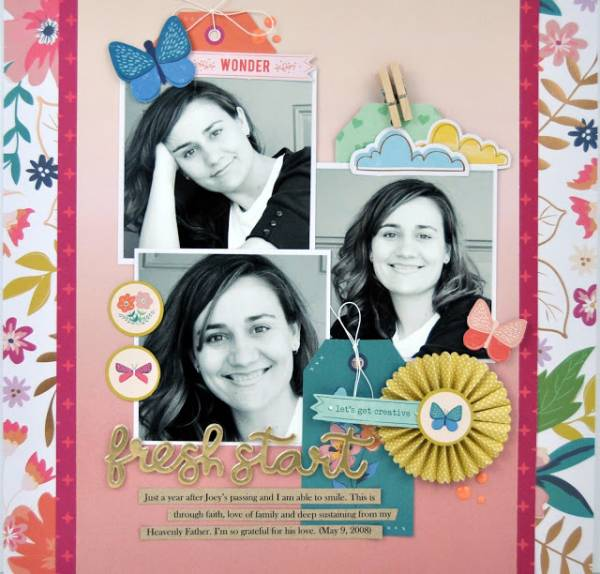 Scrapbook Layout with 3 Photos