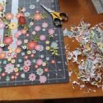 Fussy Cut Floral Wreath Layout