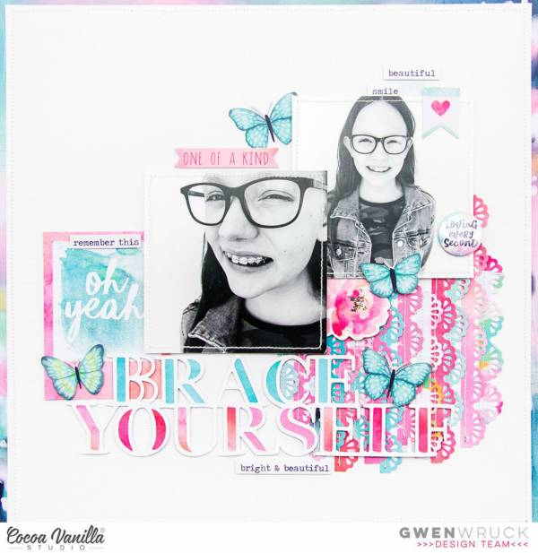Braces Scrapbook Layout