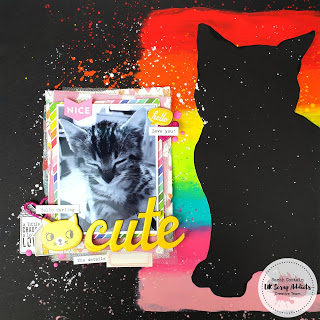 Cat Silhouette Scrapbook Page