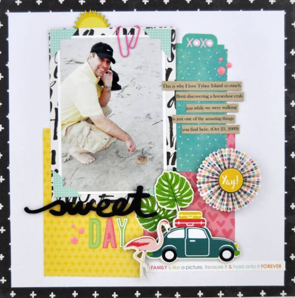 Summer Scraps Layout