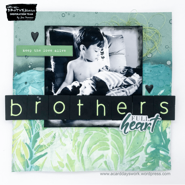 Brothers Scrapbook Page