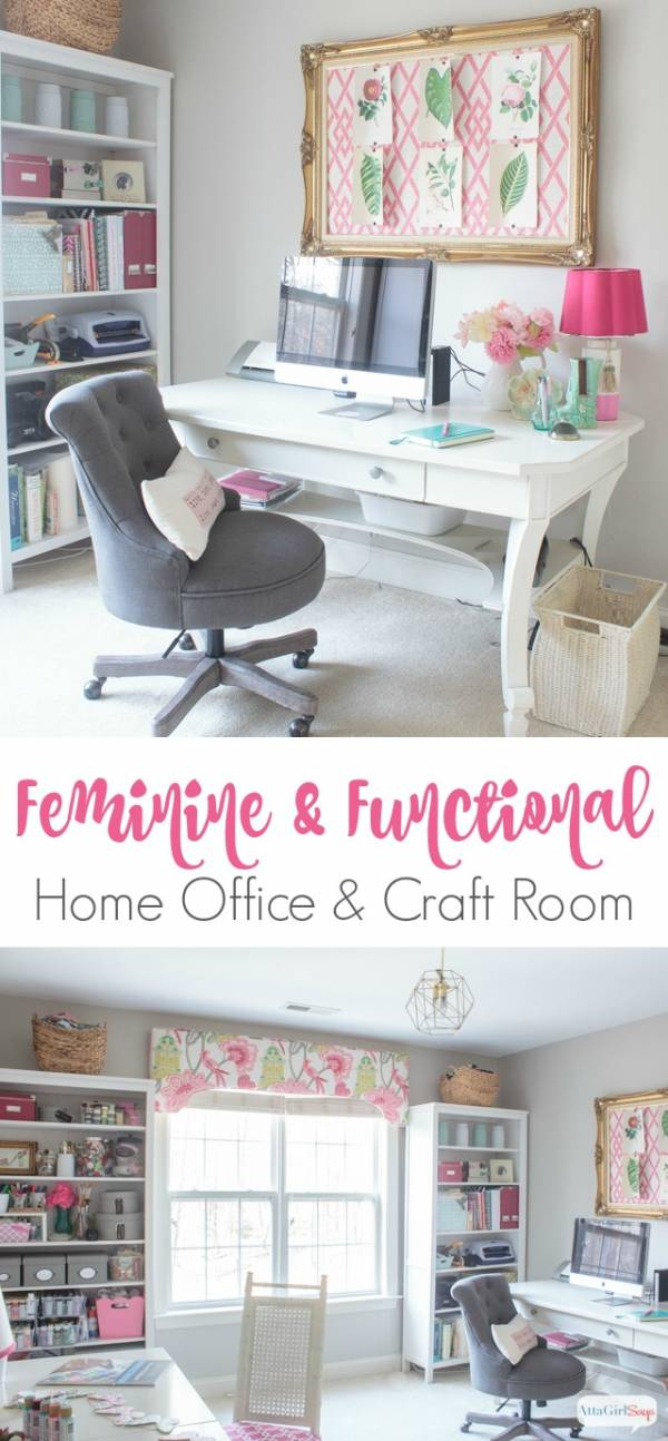 Feminine Craft Room Tour