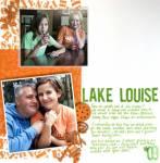 Flocked Scrapbook Page