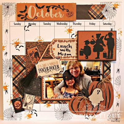 Halloween Calendar Layout
