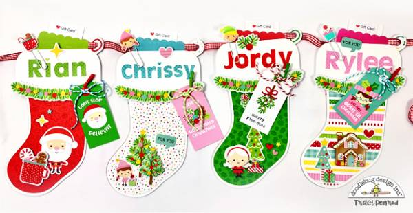 Stocking Banner Gift Card Holders