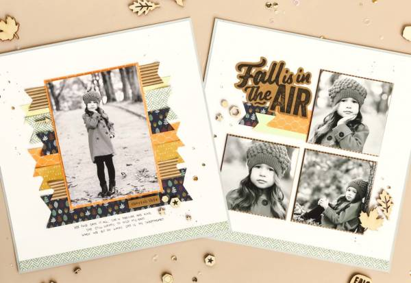 Autumn Layouts Using Scraps