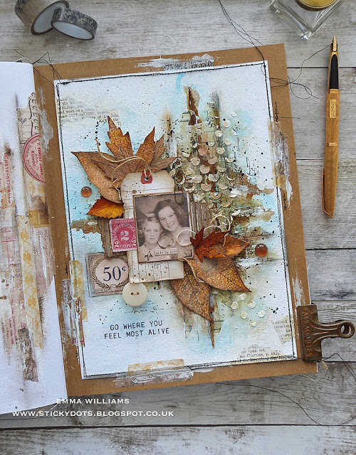 Mixed Media Autumn Layout