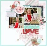 Joyful Christmas Layout