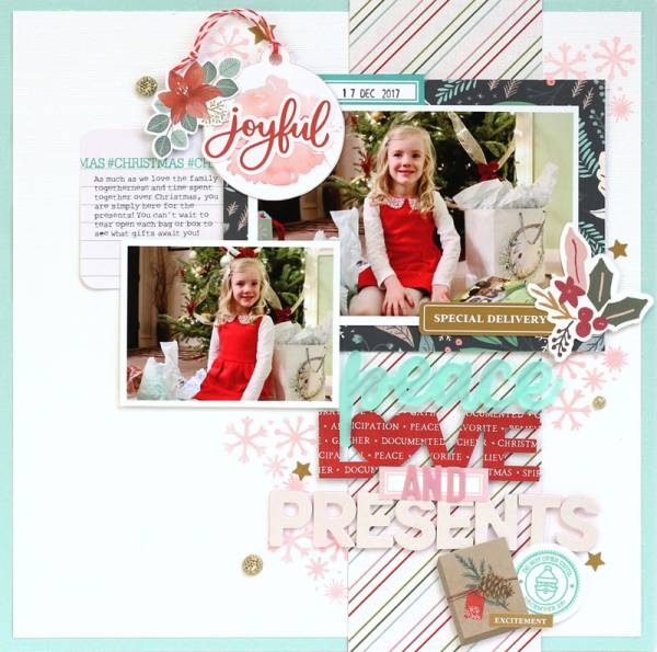 Joyful Christmas Layout