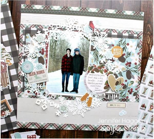 Snowflake Wreath Layout