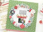 Christmas Wreath Scrapbook Page