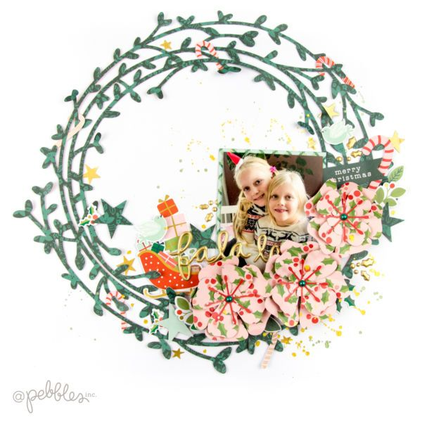 Christmas Wreath Layout