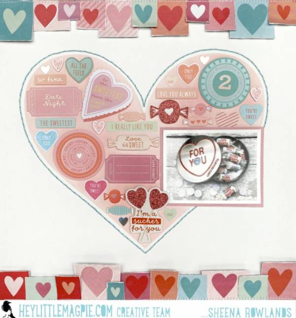 Candy Box Valentine Layout