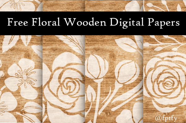 Wooden Floral Papers Download
