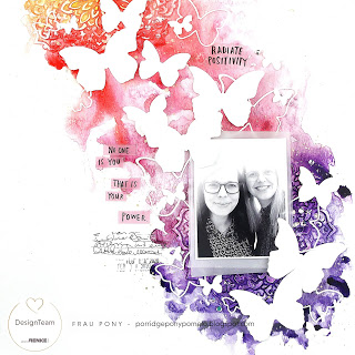 Watercolor and Butterflies Layout
