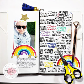 Rainbow Traveler's Notebook Pages