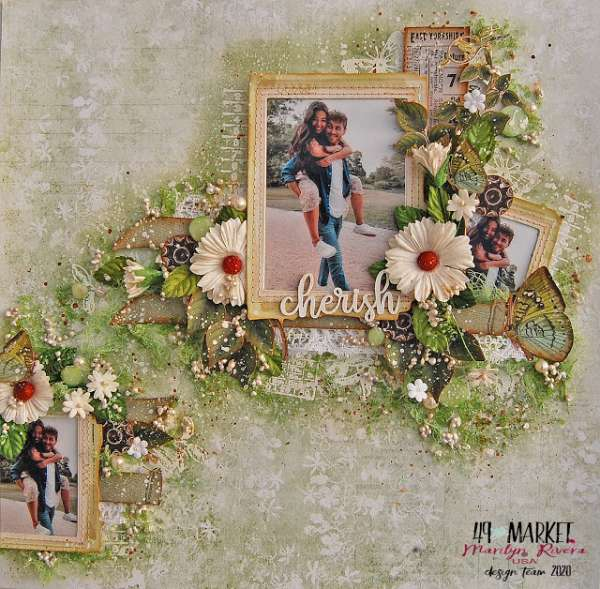 Cherish Mixed Media Layout