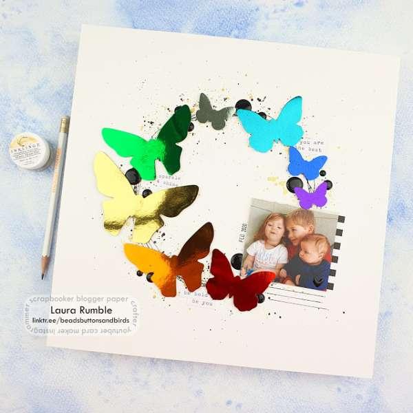 Foiled Butterflies Layout