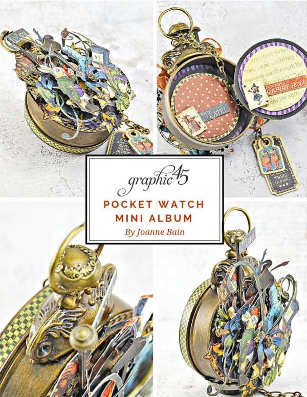 Alice in Wonderland Pocket Watch Album